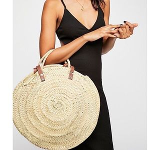 free people x sound + found marrakesh straw tote
